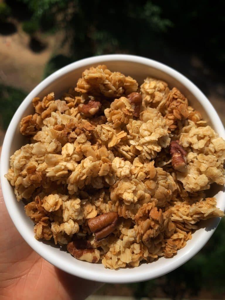 chunky homemade granola maple vanilla