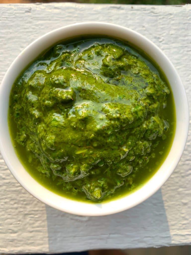 spinach basil pesto nut free