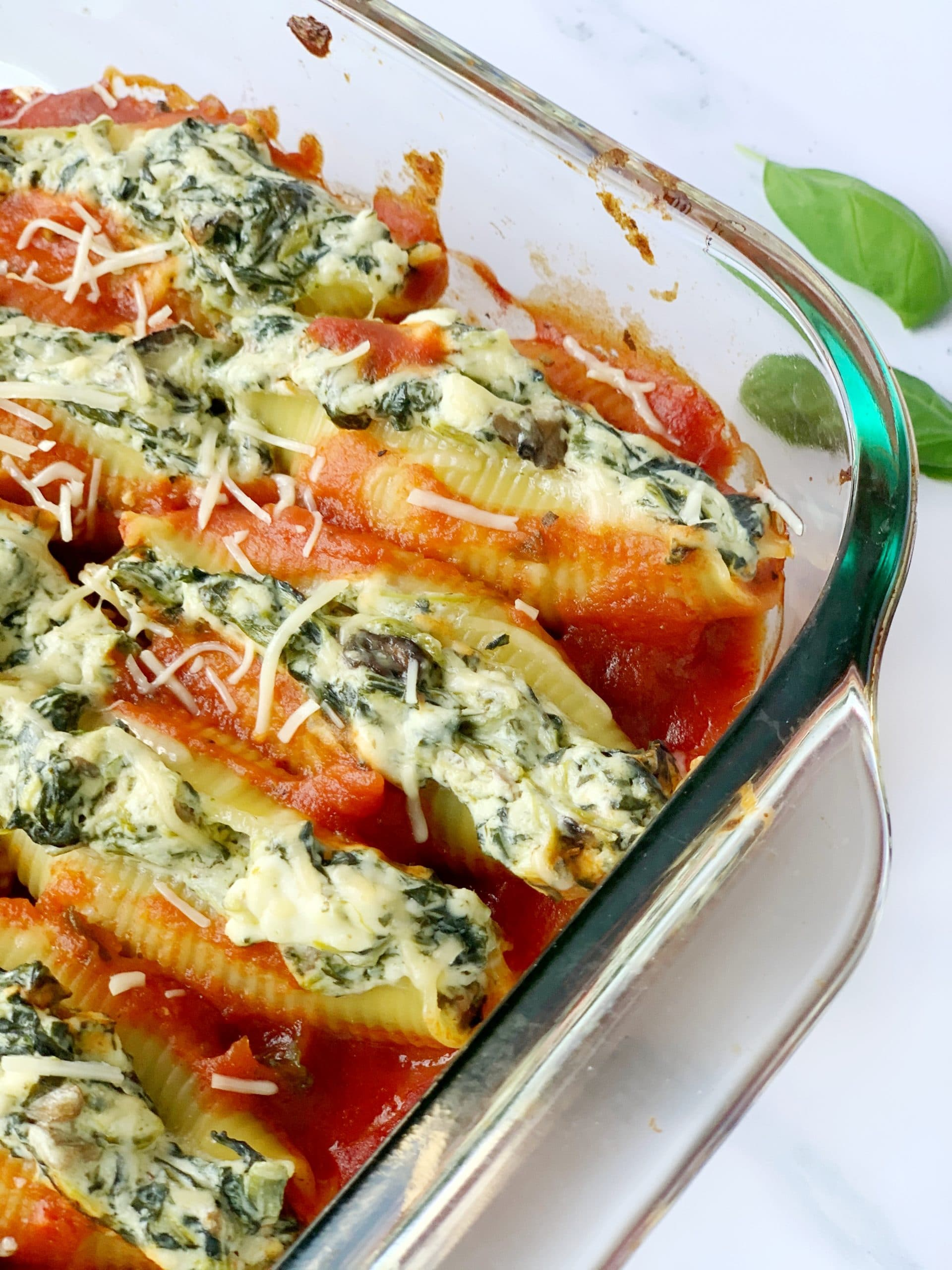 vegetarian italian stuffed shells