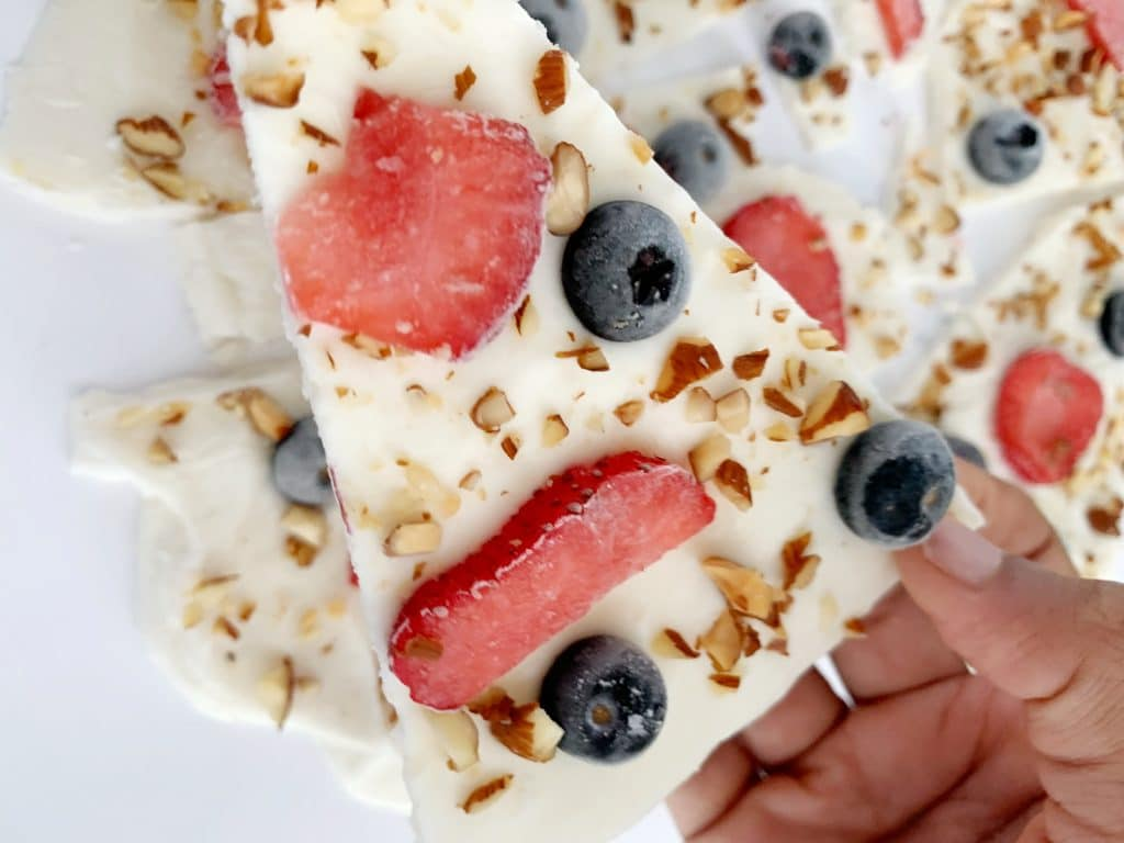 frozen greek yogurt bark
