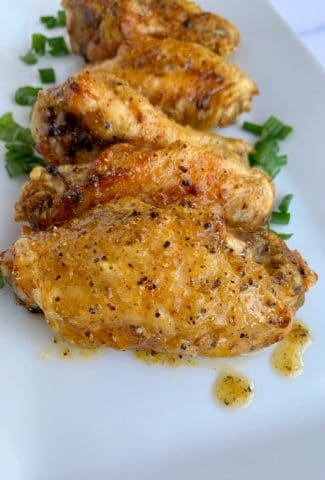 lemon pepper wet chicken wings air fried or baked