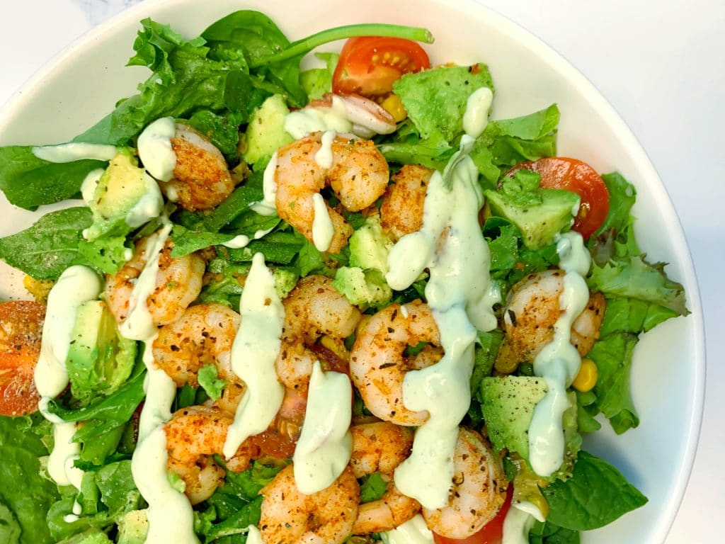 green goddess shrimp salad