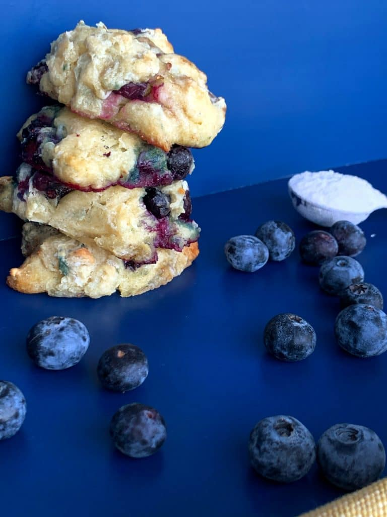 easy blueberry drop biscuits