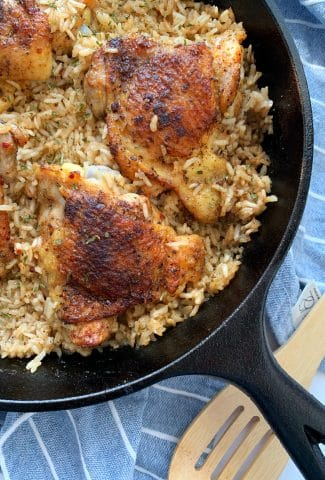 one-skillet chicken and rice