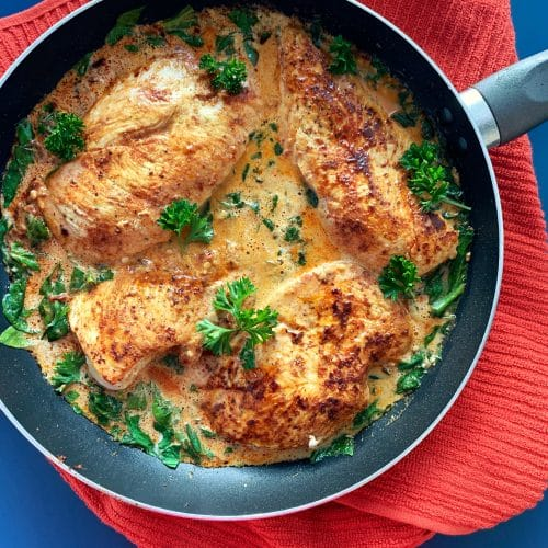 tuscan chicken in a cream sauce